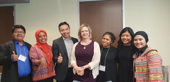 Indonesian Fellows with Linnea