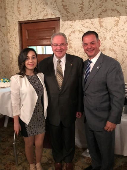 Leyla with Speaker of MA state house