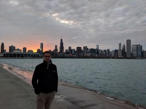 UA Denys Moliaka at Chicago Sunset
